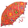 Red Phulkari Umbrella UMB03