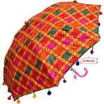 Multicolour Punjabi Phulkari Umbrella Decorative Chhatri UMB04