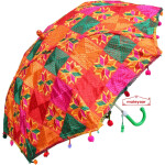 Multi Colour Phulkari Umbrella Decorative Chhatri UMB05