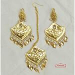 Designer Earrings Tikka Set Punjabi Jewellery J0544