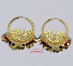 Multicolor beads bali earrings set J0545