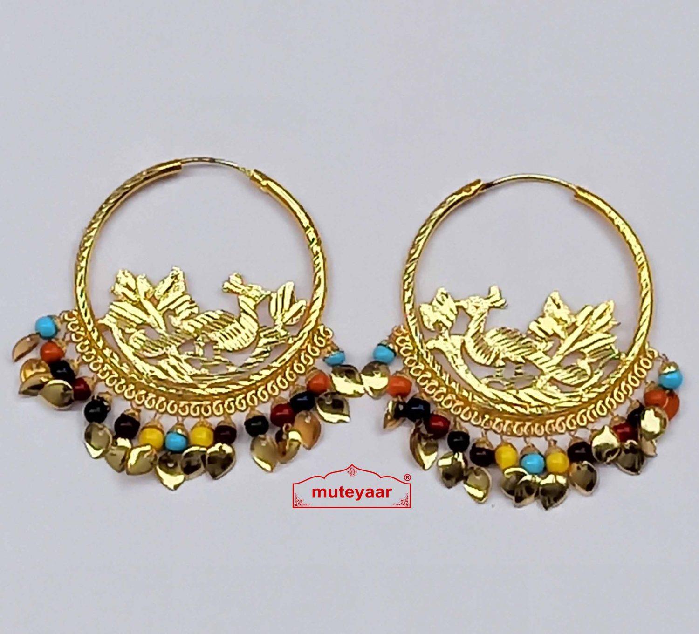 Multicolor beads bali earrings set J0545 1
