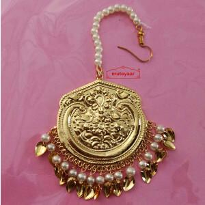 Punjabi Golden Tikka Maang Teeka J0546