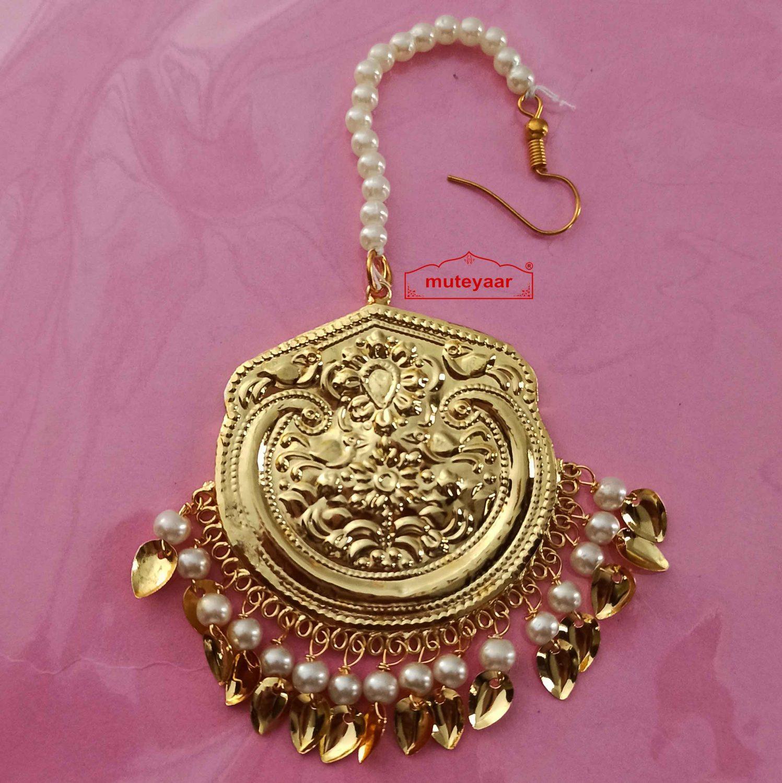 Punjabi Golden Tikka Maang Teeka J0546 1