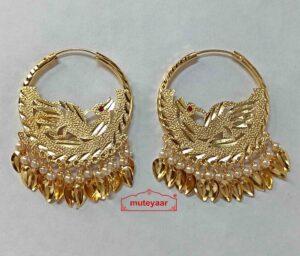 Single Morni Golden Bali Earrings J0551