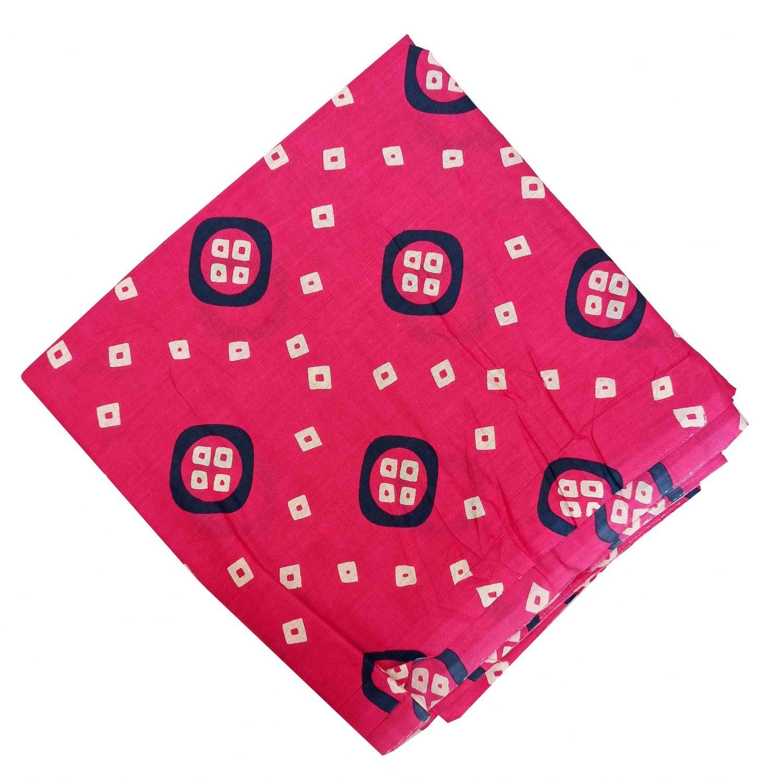 Magenta Bandhani Printed Pure Cotton Fabric Cut Piece PC542 1
