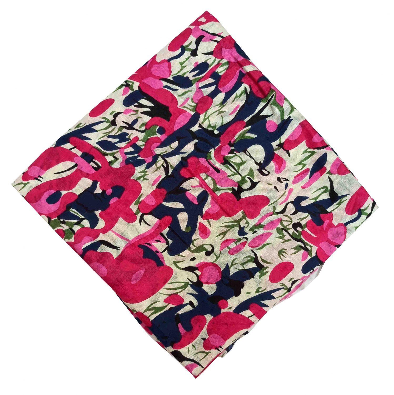Magenta Printed Pure Cotton Fabric Cut Piece PC543 1