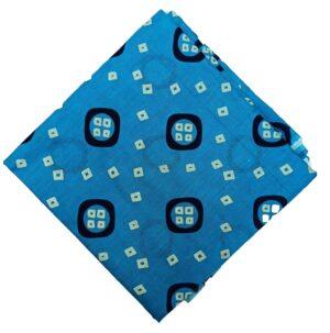 Firozi Bandhani Printed Pure Cotton Fabric Cut Piece PC544
