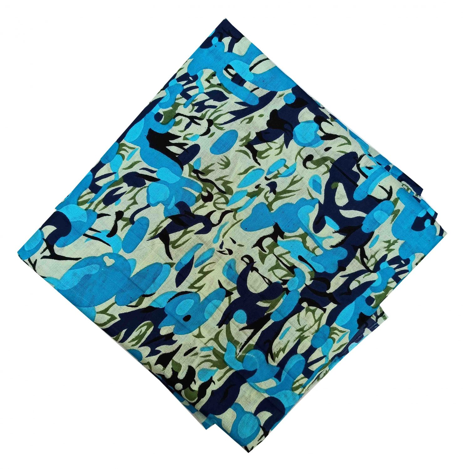 Firozi Printed Pure Cotton Fabric Cut Piece PC545 1