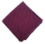 Wine Polka Printed Cotton Fabric Cut Piece PC546