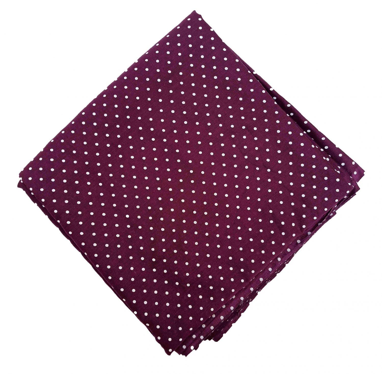 Wine Polka Printed Cotton Fabric Cut Piece PC546 1
