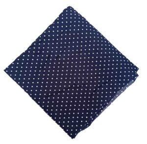 Dark Blue Polka Dots Print Cotton Fabric PC547