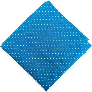 Firozi Polka Dots Printed Cotton Fabric Soft Skin Friendly Cloth PC548
