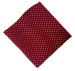 Maroon Polka Dots Print Pure Cotton Fabric Cut Piece PC550