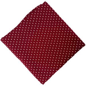 Maroon Polka Dots Print Pure Cotton Fabric Cut Piece PC550
