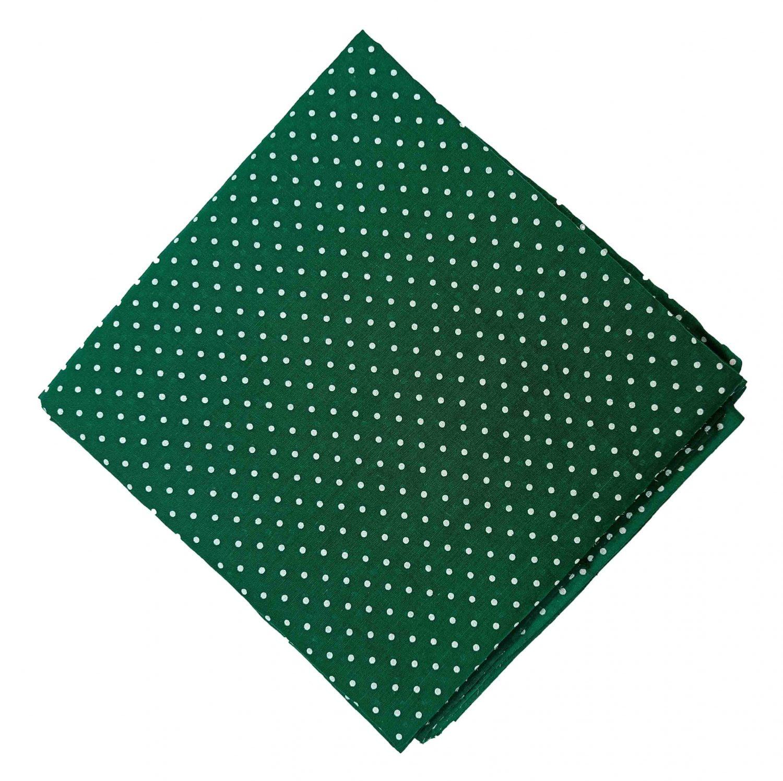 Dark Green Polka Dots Printed Cotton Fabric Cutpiece PC551 1