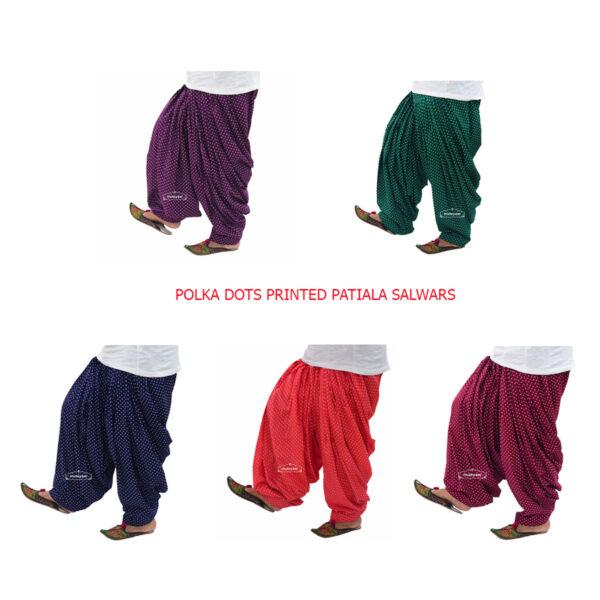 Polka Dots Print Patiala Salwar