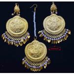 Traditional Punjabi Earrings Tikka Set J0495