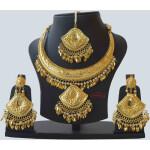 Hasli Set with Earrings Tikka Punjabi Jewellery J0553