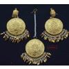 Punjabi Traditional Earrings with Tikka J0554