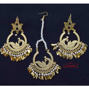 Morni Tikka Earrings Set J0557
