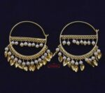 Golden Patti Moti Bali Earrings J0559