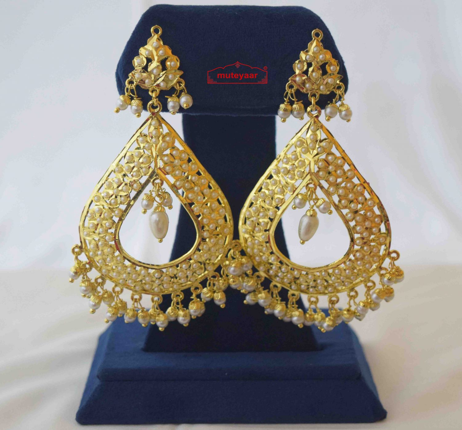 Gold Plated Eye Drop Jadau Jhumki J2020 1