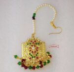 Real Gold Plated Jadau Mang Teeka J3003