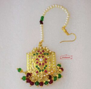 Real Gold Plated Jadau Mang Teeka J3003