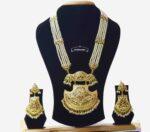 Long Jadau Necklace Set Ranihaar Gold Plated Jewellery J4001
