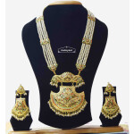 Long Jadau Necklace Set Ranihaar Gold Plated Jewellery J4001