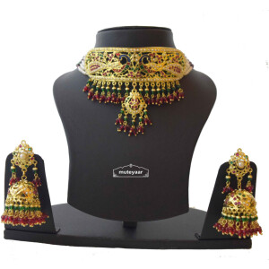 Multicolor Minakari Jadau Guluband Choker Set J4004