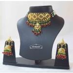 Multicolour Jadau Gulband Set with Ruby Emerald J4006