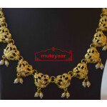 White Jadau Real Gold Plated Necklace Set J4010