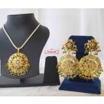 Jadau Pendant Set Gold Plated Jewellery J4012