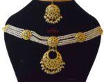 Jadau Locket Necklace Set J4014