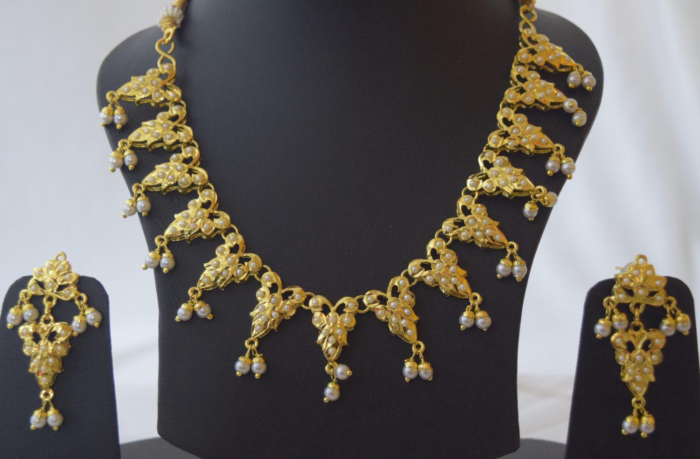 White Jadau Necklace Set J4015 2