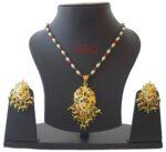 Real Gold Plated Locket Set Jadau Jewellery J4019