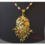 Real Gold Plated Locket Set Jadau Jewellery J4019