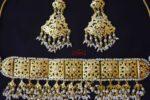 White Guluband Choker Set Jadau Jewellery J4024