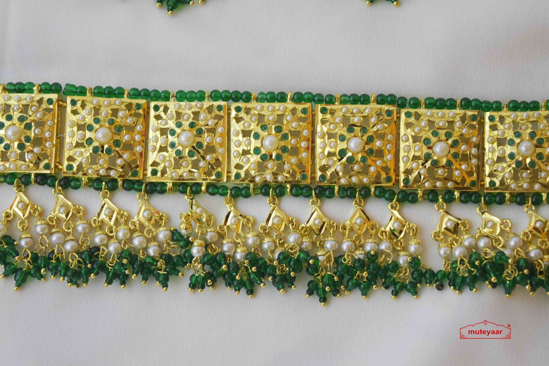 Green Guluband Choker Set J4026 4
