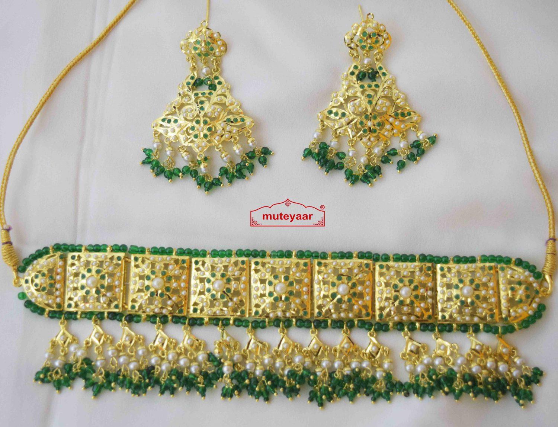 Green Guluband Choker Set J4026 2
