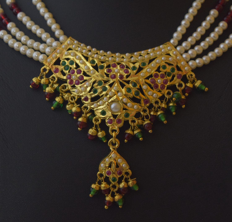 Punjabi Jadau Jewellery Locket Set J4028 2