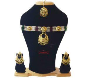 Jadau Necklace Set Gold Plated Jewellery J4029
