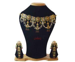 Jhallar Guluband Set Gold Plated Jadau Jewellery J4031