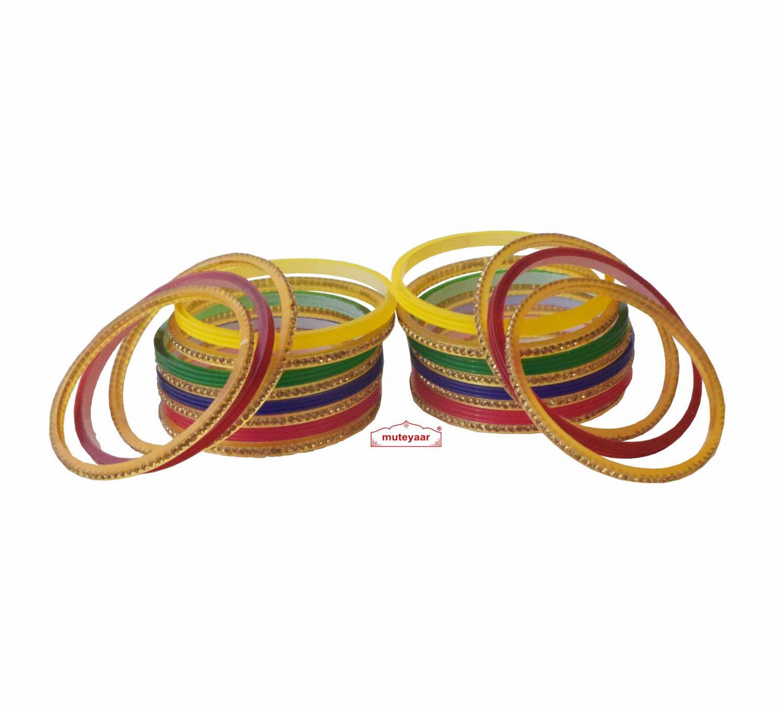 Multicolour Chura Bangles Set Wedding Choora 1