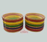 Multicolour Chura Bangles Set Wedding Choora