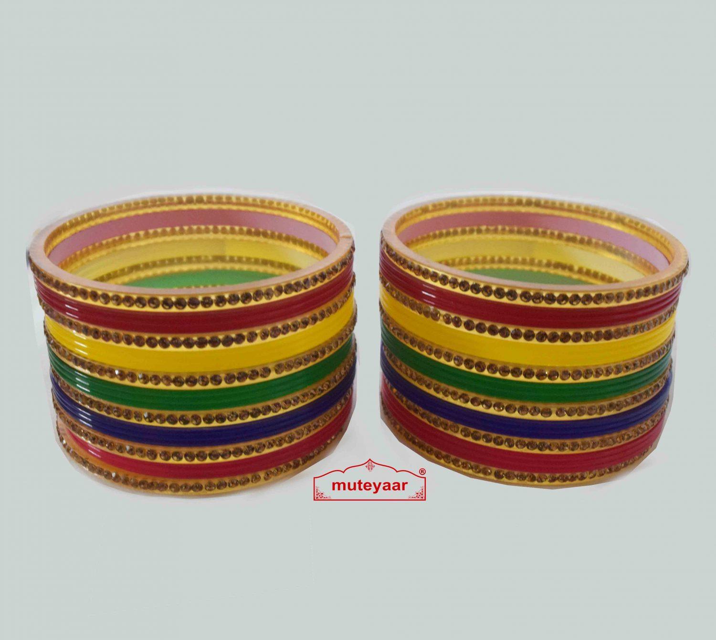 Multicolour Chura Bangles Set Wedding Choora 2