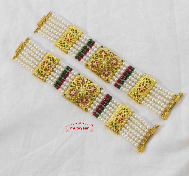 Gold Plated Jadau Bracelet Pair BN174 1