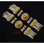 Gold Plated Jadau Bracelet Pair BN175